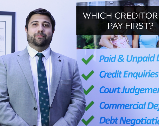 Which creditors should I prioritise?